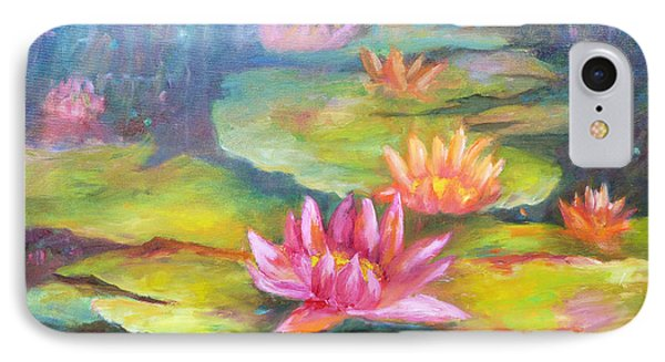 Water Lilly Pond Phone Case by Carolyn Jarvis