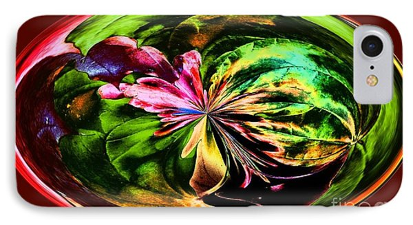 Water Lily Abstract Art IPhone Case by Annie Zeno
