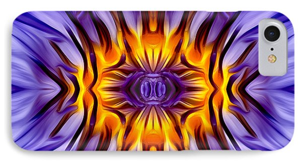 Water Lily Abstract IPhone Case by Susan Candelario