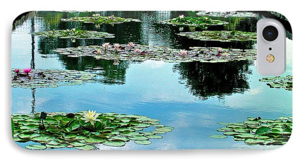 Water Lily Garden IPhone Case by Zafer Gurel