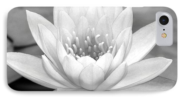 Water Lily In Black And White Phone Case by Sabrina L Ryan