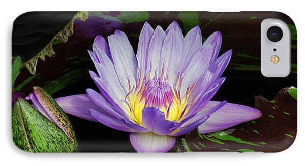Water Lily Leopardess IPhone Case