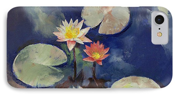 Water Lily Painting IPhone Case
