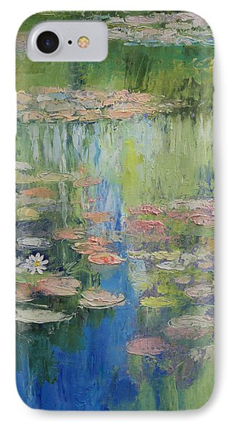 Water Lily Pond IPhone Case by Michael Creese