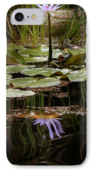 Water Lily Reflection IPhone Case by Joseph G Holland