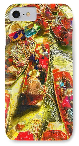 Water Market Phone Case by Mo T