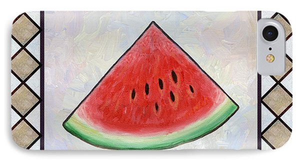 Water Melon Slice Phone Case by Linda Mears