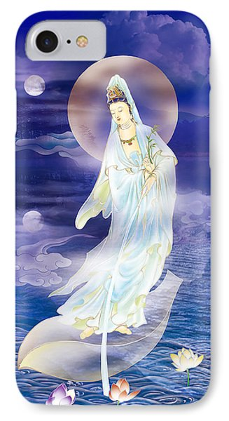 Water Moon Avalokitesvara  IPhone Case by Lanjee Chee