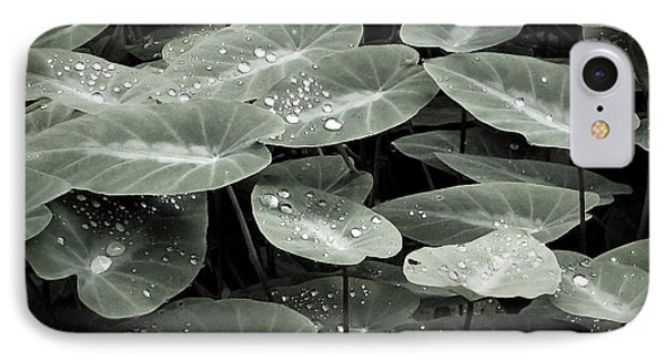 IPhone Case featuring the photograph Water On Ivy by Ellen Cotton