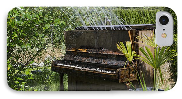 Water On My Piano Phone Case by Irene  Theriau