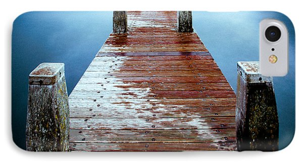 Water On The Jetty IPhone Case by Dave Bowman