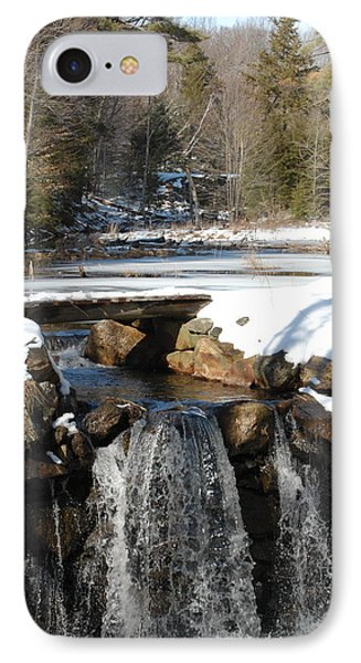 IPhone Case featuring the photograph Water Over The Dam by Mim White