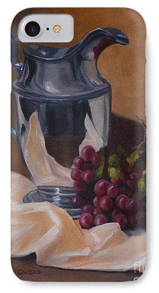 Water Pitcher With Fruit IPhone Case by Lisa Phillips Owens