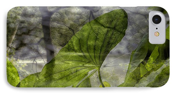 Water Plant Early Morning Merged Image IPhone Case by Thomas Woolworth