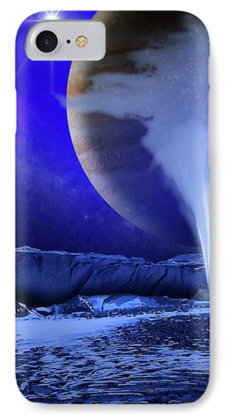 Water Plume On Europa IPhone Case
