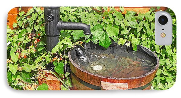 Water Pump And Rain Barrel IPhone Case by Anthony Dalton
