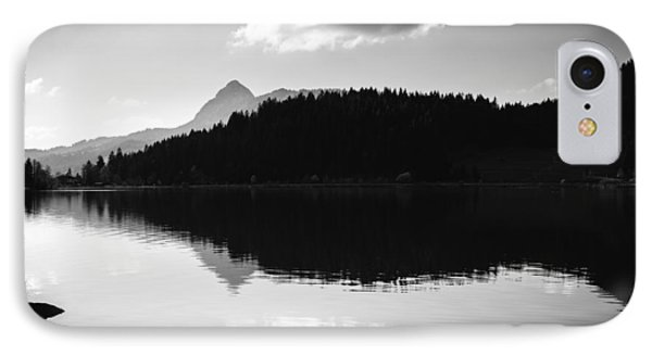 IPhone Case featuring the photograph Water Reflection Black And White by Matthias Hauser