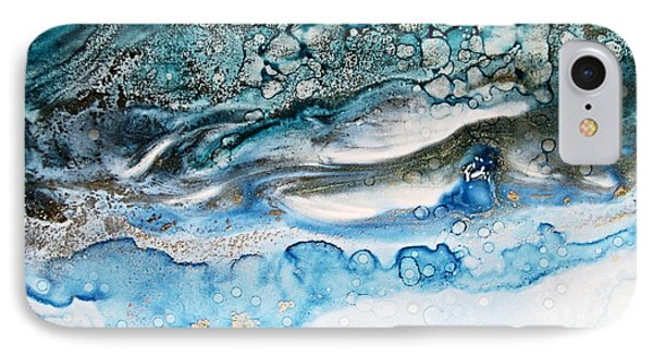 Water Ripples And Silver Linings Alcohol Inks IPhone Case by Danielle  Parent