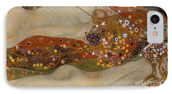 Water Serpents II Phone Case by Gustav Klimt