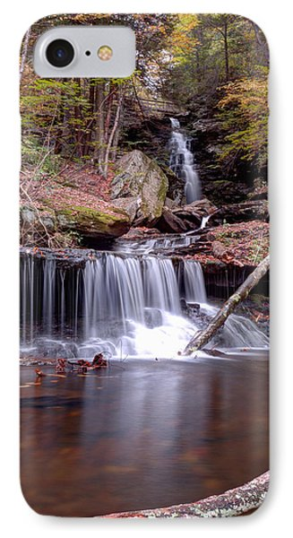 IPhone Case featuring the photograph Water Under The Ozone Falls Bridge by Gene Walls