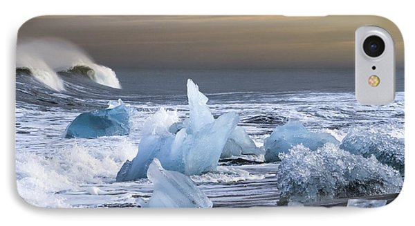 Water Versus Ice IPhone Case by Gunnar Orn Arnason