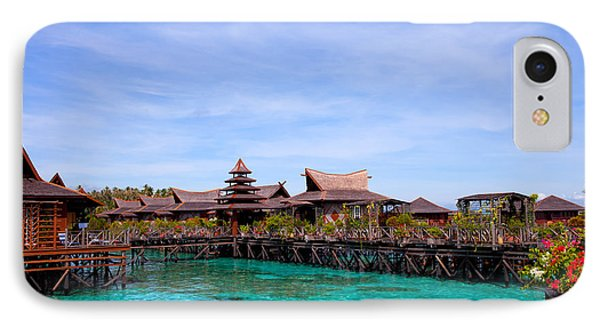 Water Village Borneo Malaysia IPhone Case by Fototrav Print