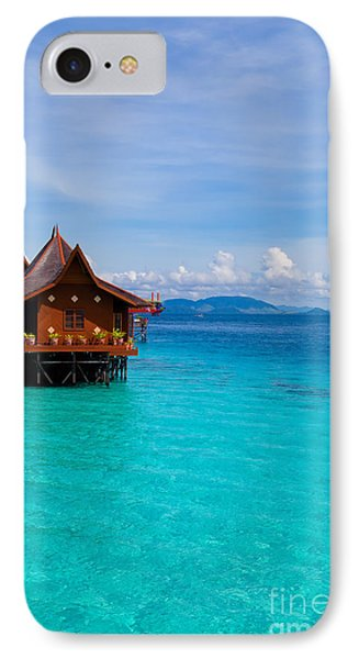 Water Village On Mabul Island Borneo Malaysia IPhone Case by Fototrav Print