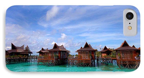 Water Village On Mabul Island Sipadan Borneo Malaysia Phone Case by Fototrav Print