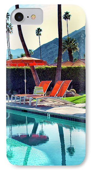 Water Waiting Palm Springs Phone Case by William Dey