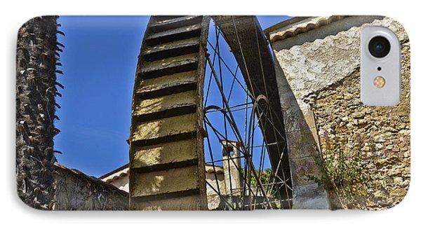 Water Wheel At Moulin A Huile Michel Phone Case by Allen Sheffield