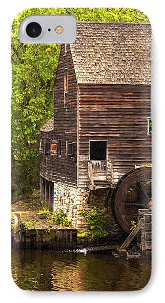 IPhone Case featuring the photograph Water Wheel At Philipsburg Manor Mill House by Jerry Cowart