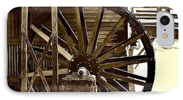 IPhone Case featuring the photograph Water Wheel At The Grist Mill by Tara Potts