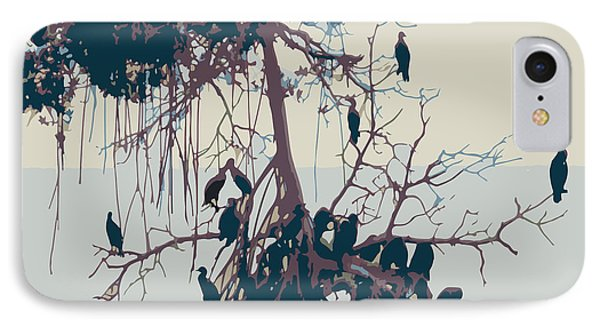 Waterbirds1 IPhone Case by Megan Dirsa-DuBois