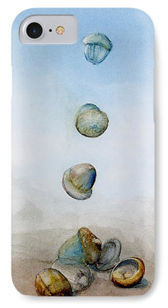 IPhone Case featuring the painting Watercolor Acorn Falls by Lenora  De Lude