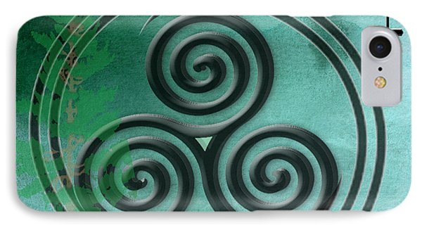 IPhone Case featuring the digital art Watercolor Ailim Symbol by Kandy Hurley
