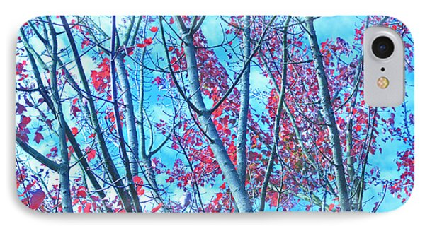IPhone Case featuring the photograph Watercolor Autumn Trees by Tikvah's Hope