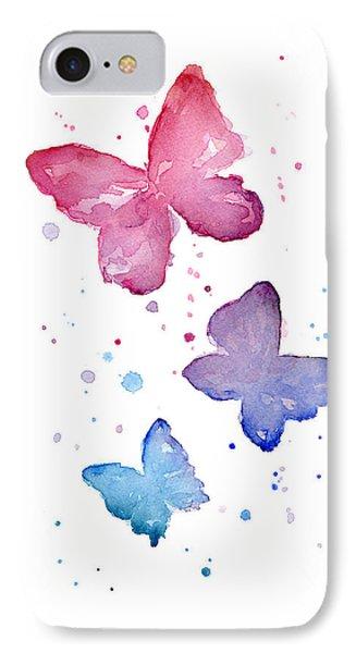 Watercolor Butterflies IPhone 7 Case by Olga Shvartsur