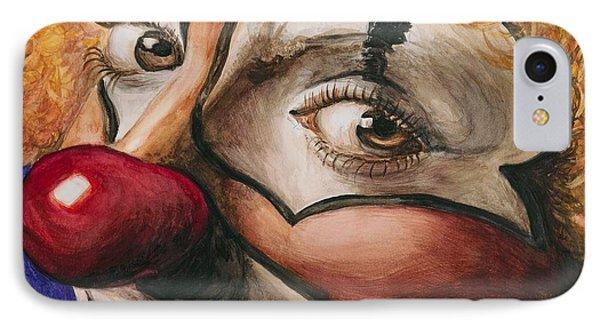 Watercolor Clown #1 Phone Case by Patty Vicknair