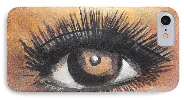 Watercolor Eye IPhone Case by Chrisann Ellis