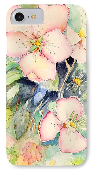 Watercolor Flowers IPhone Case by Pattie Calfy