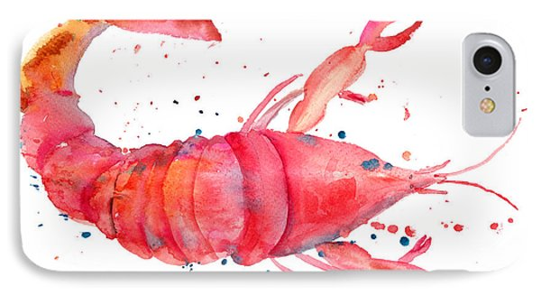 Watercolor Illustration Of Lobster IPhone Case