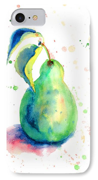 Watercolor Illustration Of Pear  IPhone Case