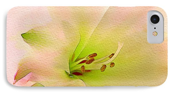 Watercolor Lily Bloom IPhone Case by Georgiana Romanovna