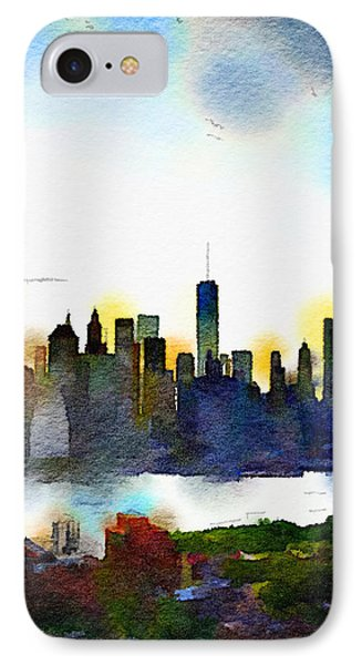 Watercolor Manhattan IPhone Case