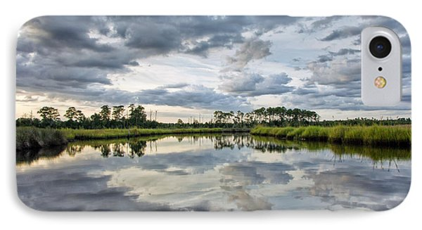 IPhone Case featuring the photograph Watercolor Marsh And Sky by Alan Raasch