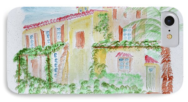 Watercolor Of A Typical French Home IPhone Case