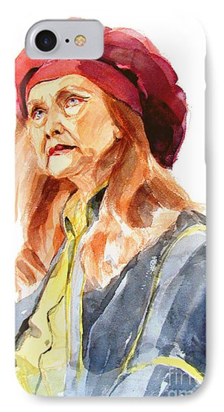 Watercolor Portrait Of An Old Lady Painting By Greta Corens
