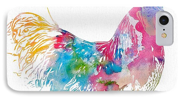 Watercolor Rooster IPhone Case