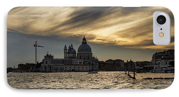 IPhone Case featuring the photograph Watercolor Sky Over Venice Italy by Georgia Mizuleva