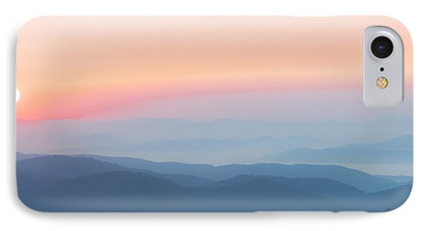 Watercolor Sunrise In The Blue Ridge Mountains IPhone Case